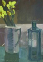 [ Dscn0405.jpg:  Dark Bottle<BR>Acrylic on Canvas 10 x 14 ]