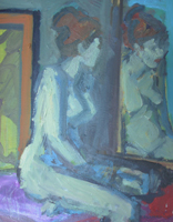 [ Model_with_hair_up.jpg:  Model with Hair Up<br>Oil on Canvas 20