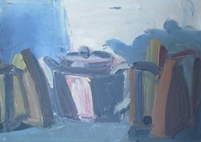 [ TeapotIron.jpg:  Teapot and Iron<br>Oil on Canvas 10