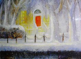 [ 1wilson.jpg:  Wilson Place, Georgian Door on The Canal<br>Acrylic on Canvas 12