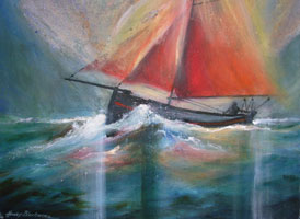 [ 2galwayhooker.jpg:  The Galway Hooker <br>Acrylic on Canvas 18