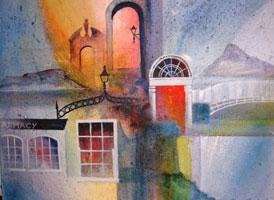 [ dublin.jpg:  Images of Dublin<br>Acrylic on Canvas 20