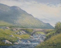 [ Bridge_Gap_of_Dunloe_Co_Kerry.jpg:  Bridge Gap of Dunloe Co Kerry<BR>Oil On Linen Board 8