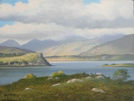 [ Upper_Lake_Killarney.jpg:  Upper Lake, Killarney<BR>Oil on canvas 12