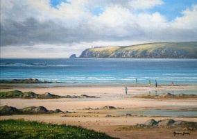 [ img009.jpg:  Galley Head Dunowen Co Cork<BR>Oil on canvas 10 x 14 - SOLD ]