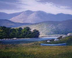 [ img011.jpg:  Upper Lake Killarney Co Kerry<BR>Oil on canvas 10 x 12 - SOLD ]