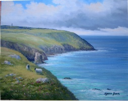[ img019.jpg:  Old Head of Kinsale Co Cork<BR>Oil on Board 8 x 10 - SOLD ]