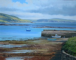 [ img020.jpg:  Black Bay Old Head of Kinsale Co Cork<BR>Oil on Board 8 x 10 - SOLD ]
