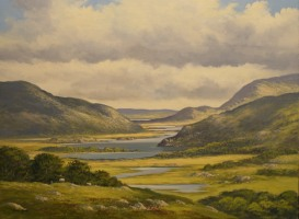 [ img095.jpg:  Ladys View Killarney, Co Kerry<BR>Oil on Canvas  18 x 24 ]