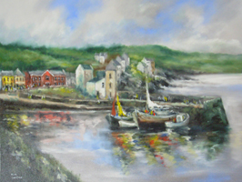 [ DSCN0705.jpg:  Glandore Harbour, Co. Cork <br> Oil on Canvas 20