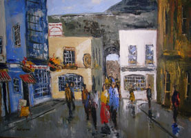 [ templebar.jpg:  Temple Bar Dublin <br>Oil on Canvas 20