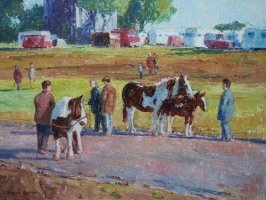 [ Horse_and_Foal_12x16_500x375_ooc_large.jpg:  Horse and Foal<BR>Oil on Canvas 16 x 12 ]