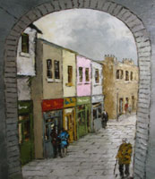 [ merchants.jpg:  Merchants Arch Temple Bar<br>Oil on Canvas 14