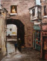 [ merchants2.jpg:  Merchants Arch Temple Bar<br>Oil on Canvas 12