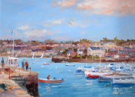 [ DSC04352.jpg:  Pier Road Kinsale<BR>Oil on Board 9 x 12.5 - sold ]