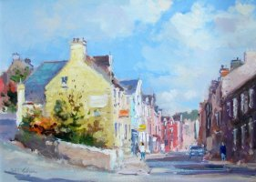 [ DSC04356.jpg:  Johns Hill Kinsale<BR>Oil on Canvas 9 x 12.5 - sold ]