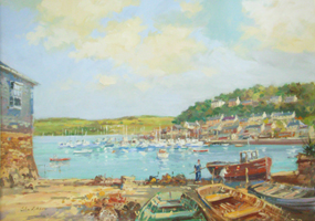 [ DSCN0711.jpg:  From Scilly Looking Towards The Marina & Pier Road <br> Oil on Canvas 14
