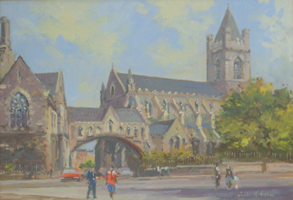 [ DSCN0721.jpg:  Christ Church Cathedral, Dublin <br> Oil on Board 9