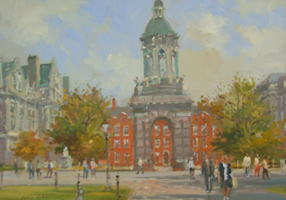 [ DSCN0727.jpg:  Trinity College, Dublin <br> Oil on Board 8