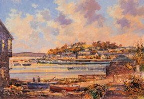 [ eveningkinsale.jpg:  From The Scilly looking over the Marina Kinsale Co Cork<BR>Print 8 x 10 ]