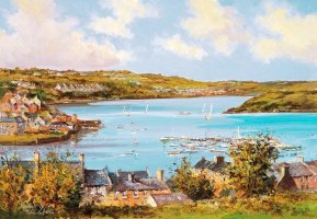 [ rampart.jpg:  From the Ramparts looking across the Harbour to Charles Fort and James Fort<BR>Print 8 x 10 ]