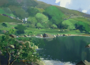 [ 1Glendun_River_Co_Antrim.jpg:  Glendun River Co. Antrim <BR>Oil on Board 12 x 16 ]