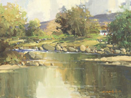 [ Glendun_River_Cushendun_Co_Antrim.jpg:  Glendun River Cushendun Co Antrim <BR>Oil on Canvas 12