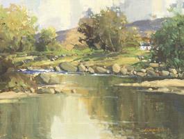 [ Glendun_River_Cushendun_Co_Antrim.jpg:  Glendun River Cushendun Co Antrim <BR>Oil on Canvas 12