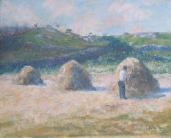 [ Dscn0867.jpg:  Haymaking<BR>Oil on Canvas 12 x 10 - sold ]
