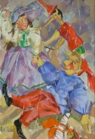 [ Dscn0031.jpg:  Easter Bonnet<BR>Oil on Canvas 16 x 12 ]