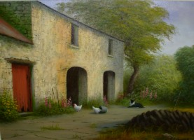 [ 1Down_Memory_Lane.jpg:  Down Memory Lane<BR>Oil on Canvas 16