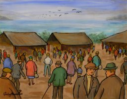 [ Dscn0298.jpg:  Mayo Market<BR>Oil on Board 18 x 14 ]