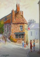 [ Dscn0026.jpg:  Casey Corner Kinsale Co Cork<BR>Oil on Canvas 20 x 16 - sold ]