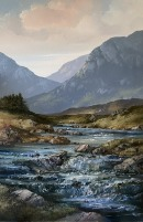 [ 12IMG_1255.jpg:  Evening  Erriff River Delphi Connemara Co Galway<br>Oil on Deep Edged Canvas 36