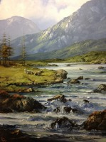 [ 14delphi_river_connemara_co_galway.jpg:  Delphi River, Connemara, Co Galway<br>Oil on canvas 36