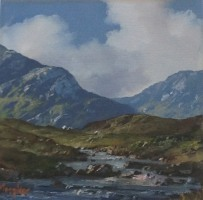 [ 15Erriff_River_Delphi_Connemara_Co_Galway.jpg:  Erriff River Delphi Connemara Co Galway<br>Oil on canvas 6