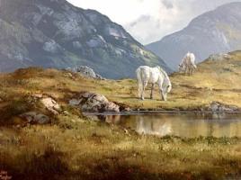 [ Connemara_Ponies_in_the_Twelve_Bens.jpg:  Connemara Ponies in the Twelve Bens<br>Oil on canvas 18 x 24 SOLD ]