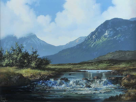[ Delphi_Connemara.jpg:  Ballinafad Connemara Co Galway <br> Oil on Canvas 24