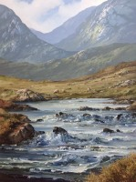 [ Erriff_River_Connemara_Co_Galway.jpg:  Erriff River, Connemara, Co. Galway<br>Oil on canvas 36