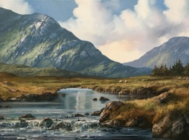 [ Maam_Valley_Connemara_Co_Galway.jpg:  Maam Valley, Connemara, Co. Galway <br>Oil on canvas 24