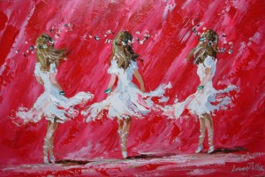 [ Ladies_In_White.jpg:  Ladies In White - Sold<BR> Acrylic on board 20 x 30 ]