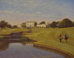[ Dscn0607.jpg:  Druids Glen, Co Wicklow, 18th hole<BR>print (limited edition) ]