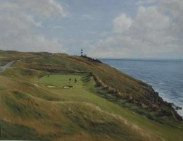 [ P6270035_large.jpg:  16th hole The old head of Kinsale Golf Course Co Cork<BR>Print (limited edition) 15 x 19 ]