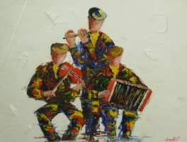 [ Dscn0021.jpg:  The musicians<BR>Acrylic on Board 20 x 16 ]