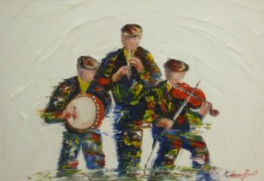 [ Dscn0024.jpg:  The fiddle, whistle and bodhran<BR>Acrylic on Board 16 x 12 ]
