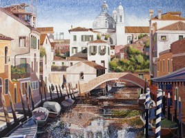 [ 5Mooring_Posts_Venice.jpg:  Mooring Posts Venice<BR>Oil On Canvas  30 x  40 ]
