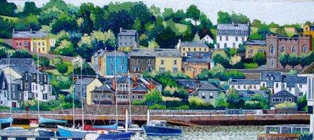 [ DSC02403.jpg:  Kinsale, Co Cork<BR>Pastel 14 x  7 ]