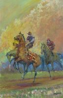 [ Dscn0856.jpg:  Dawn Gallop<BR>Oil on Canvas 18 x 14 ]
