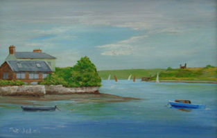 [ DSCN0728.jpg:  The Scilly, Kinsale <br> Oil on Board 4 1/2