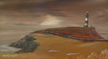 [ DSCN0730.jpg:  4th Hole, The Old Head of Kinsale Golf Links <br> Oil on Board 5